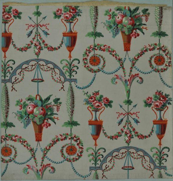Choix d 39 oeuvres de la collection mus e du papier peint rixheim france - Papier peint motif ancien ...