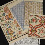 Papiers dominotés de l'atelier Poulaillon, Mulhouse - Produits en vente à la boutique du Musée du Papier peint, Rixheim, France
