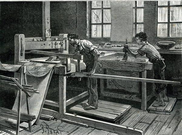 Petite histoire du papier peint mus e du papier peint for Architecture 18e siecle france