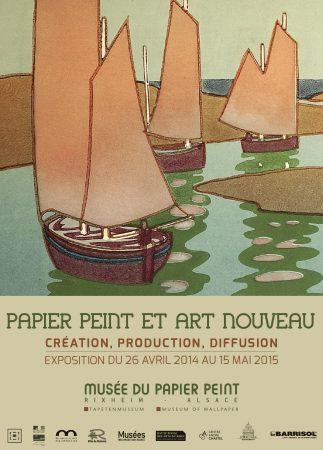 Papier peint et Art Nouveau - 2014-Affiche d'exposition - Design Dominique Schönig