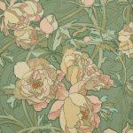 Pivoines, Dessin d'Alfons Mucha, Manufacture inconnue, France, 1900, Impression mécanique, Musée du Papier Peint, Rixheim, France, Inv. 987 PC 255