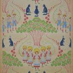 Garçons et filles Manufacture Gillou Fils, Paris, vers 1900 Impression mécanique Musée du Papier Peint, Rixheim, France, Inv. 2007 PP 10-72
