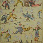 Le Cirque Manufacture inconnue, France, 1894 Impression mécanique Musée du Papier Peint, Rixheim Inv. 999 PC 35