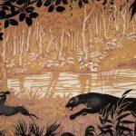 Tableau en papier peint Manufacture Inconnue, Années 1930 Impression à la planche et tontisse  cliché © Musée du Papier Peint, Rixheim