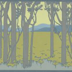 Forêt, frise de papier peint Manufacture Joseph Petitjean, avant 1900 Dessinateur Maurice Dufrène (1876-1955) Impression à la planche cliché © Musée du Papier Peint, Rixheim.