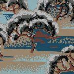 Page d'album de papier peint Manufacture Etablissement Motel Gaillard, EMG, Paris Collection 1931 Impression mécanique aux rouleaux en relief cliché © Musée du Papier Peint, Rixheim