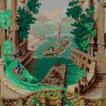 Papier peint à motif répétitif Manufacture Inconnue, Années 1840-1850 Impression à la planche cliché © Musée du Papier Peint, Rixheim