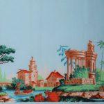 Frise à paysage Manufacture Inconnue, Fin du 18e siècle Impression à la planche cliché © Musée du Papier Peint, Rixheim