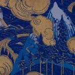 Papier peint à motif répétitif Manufacture Société Française des Papiers peints, Balagny-sur-Thérain, Années 1930 Impression mécanique aux rouleaux en relief cliché © Musée du Papier Peint, Rixheim
