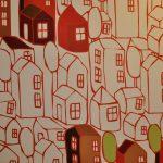 Dream Town (détail) Manufacture Wall&decò, Ravenne, Italie  Collection Big Brand 2010 Dessinatrice Tal Waldman, Paris Papier induction vinyle, impression numérique cliché Musée du Papier Peint, Rixheim ©Wall&decò