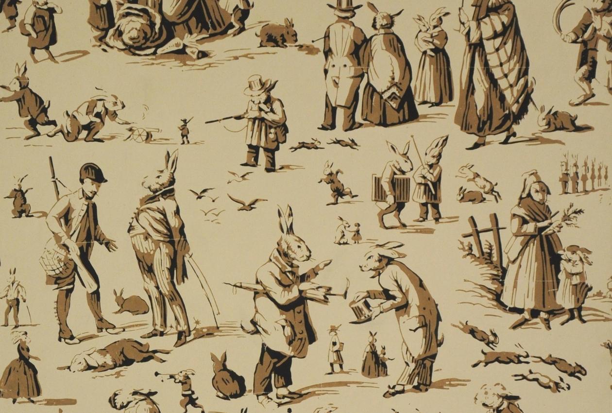 Manufacture Inconnue, France Années 1860 Papier continu, fond mat, impression à la planche Inv. 987 PL 70