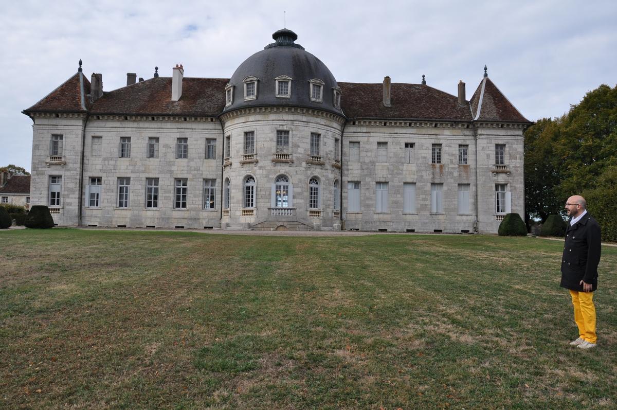 Façade arrière avec sa rotonde - Château de Moncley, bâti entre 1778 et 1790 par l'architecte Claude Joseph Alexandre Bertrand