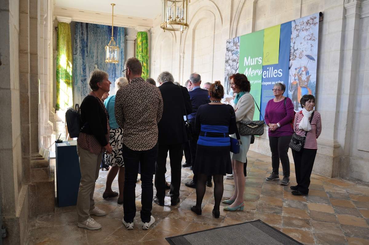 Château-Musée des arts et traditions populaires, Exposition « Murs & merveilles, le papier peint s'expose au salon » jusqu'au 28 octobre 2018.
